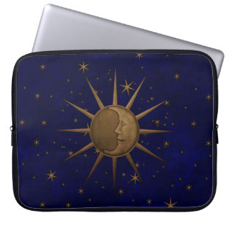 Celestial Sun Moon Starry Night Laptop Sleeve