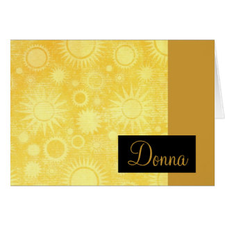 Celestial Suns Note Cards