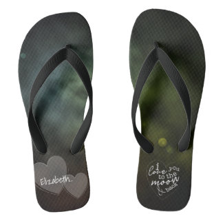 Celestial, To The Moon And Back Flip Flops