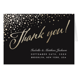 Celestial Union Thank You Cards - Gold