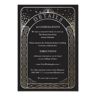 Celestial Union Wedding Details Card (Gold)