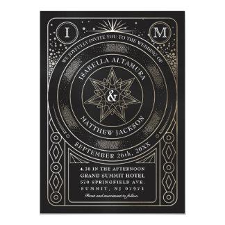 Celestial Union Wedding Invitations (Gold)