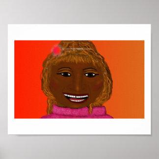 Celia Cruz Painting Poster