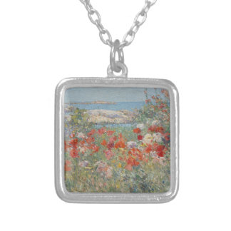 Celia Thaxter's Garden, Isles of Shoals, Maine Silver Plated Necklace