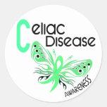 Celiac Disease BUTTERFLY 3.1 Round Sticker