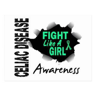 Celiac Disease Fight Like A Girl 14 3 Post Card