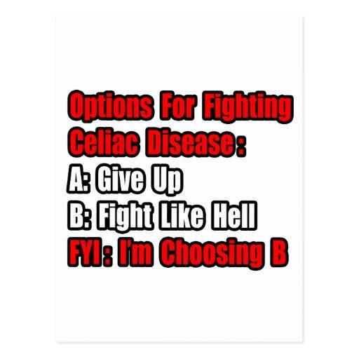 Celiac Disease Fighting Options Post Card