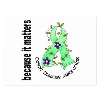Celiac Disease Flower Ribbon 3 Post Cards