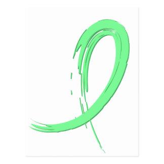Celiac Disease Light Green Ribbon A4 Postcard