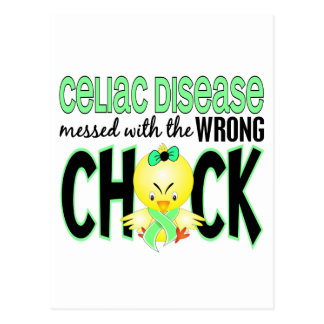 Celiac Disease Messed With The Wrong Chick Postcard