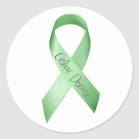 Celiac Disease Ribbon Round Sticker