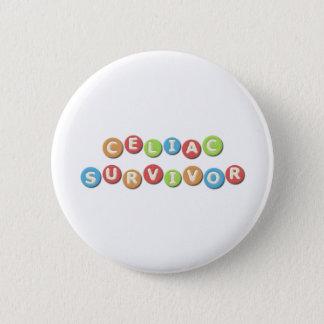 Celiac Survivor 6 Cm Round Badge