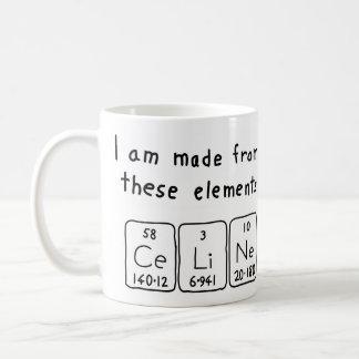 Celine periodic table name mug