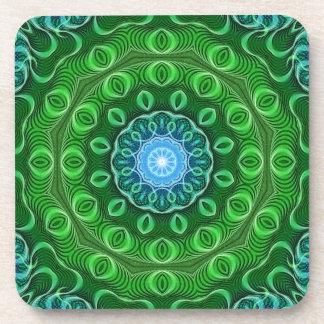 Cell Growth Mandala Drink Coaster