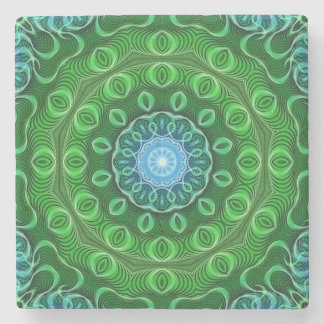 Cell Growth Mandala Stone Coaster
