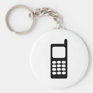Cell phone basic round button key ring