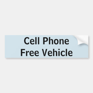 Cell Phone Free Vehicle sticker
