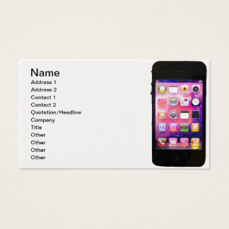 Cell Phone Gold Business Card