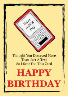 Cell Phone Happy Birthday Card