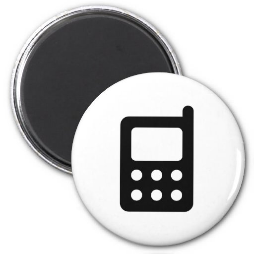 Cell Phone Icon Fridge Magnets