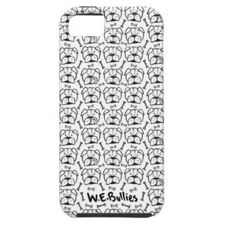 Cell phone marries with english bulldog pattern iPhone 5 case