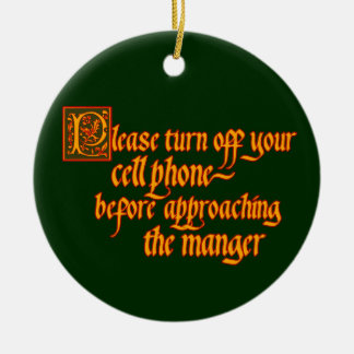 Cell Phone Off Christmas ornament