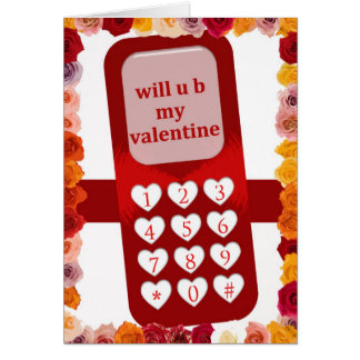 Cell Phone Valentine Card