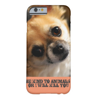 Cell phone with animal rights message. barely there iPhone 6 case