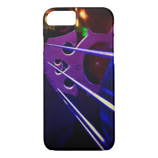 Cello bridge and strings close-up iPhone 7 case