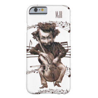 Cello Chops | Vintage Muscian | Monogrammed Barely There iPhone 6 Case