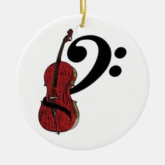 Cello Clef Ceramic Ornament