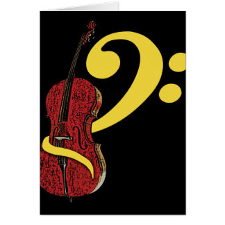 Cello Clef Greeting Card