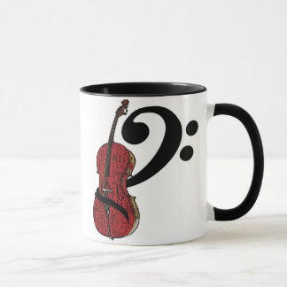 Cello Clef Mug