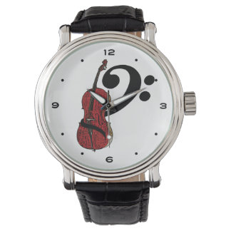 Cello Clef Wrist Watches