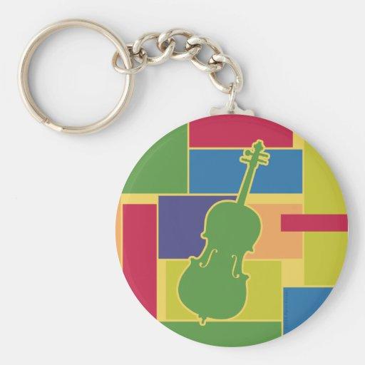 Cello Colorblocks Keychain