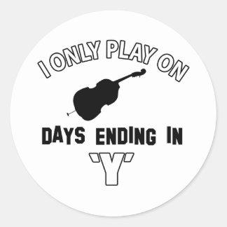 cello design classic round sticker