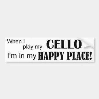 Cello Happy Place Bumper Sticker