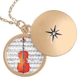 Cello & I Rock!_ Round Locket Necklace