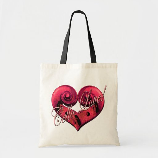cello love Pink Tote Bags