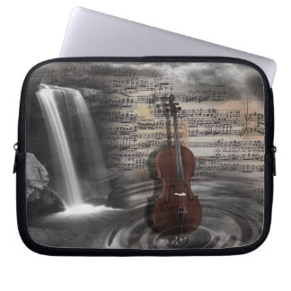 Cello Music Waterfall Computer Sleeve