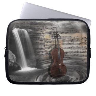 Cello Music Waterfall Computer Sleeve