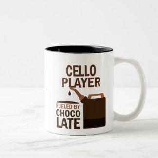 Cello Player (Funny) Chocolate Two-Tone Coffee Mug