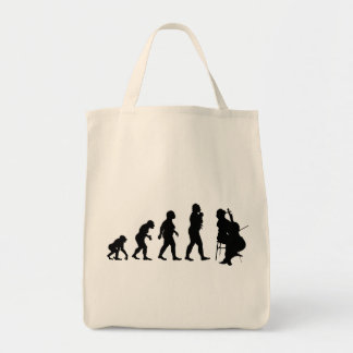 Cello Player Grocery Tote Bag