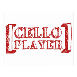 Cello Player Postcard