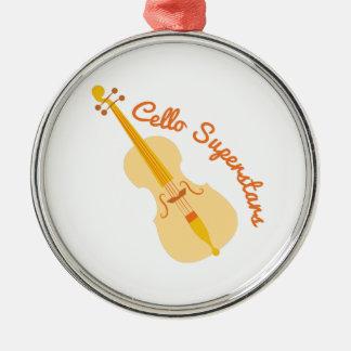Cello Superstars Metal Ornament