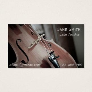 Cello Teacher String instrument music tutor Business Card