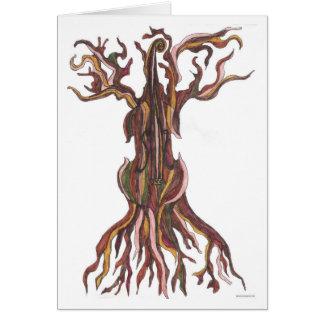 Cello Tree Blank Card