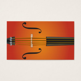 Cello, violin, viola business card design