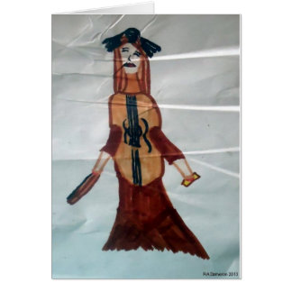 Cello Woman Notecard