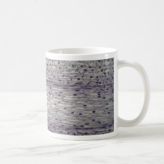 Cells of a root under the microscope. coffee mug